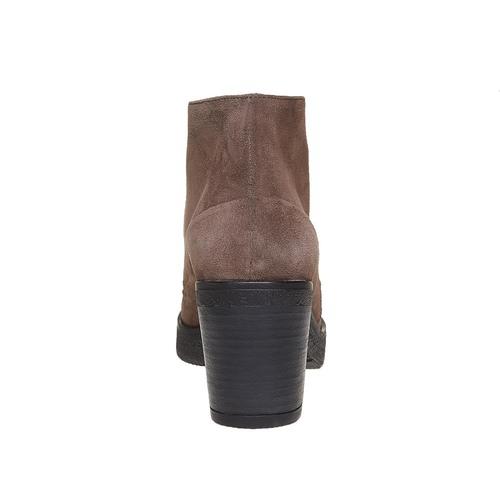 Scarpe in pelle da donna con lacci bata, grigio, 693-2381 - 17