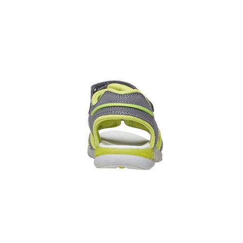Sandali da bambino con strisce di pelle mini-b, grigio, 264-2166 - 17