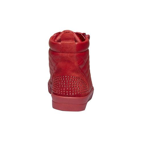 Sneakers rosse alla caviglia north-star, rosso, 543-5127 - 17