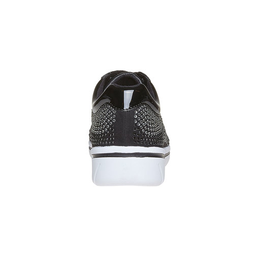 Sneakers da donna con strass north-star, nero, 549-6261 - 17