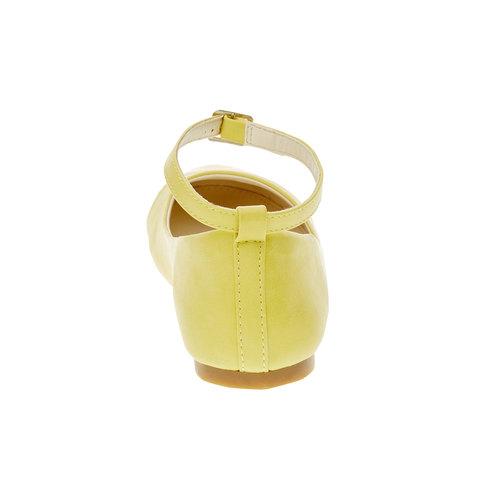 Ballerine gialle con cinturino mini-b, giallo, 321-8181 - 17