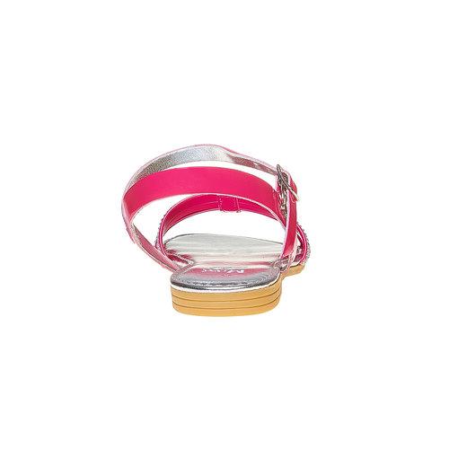 Sandali da ragazza con strass mini-b, rosa, 361-5175 - 17