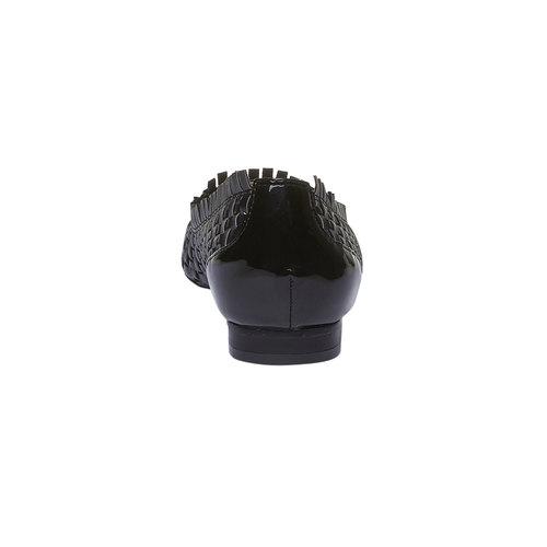 Ballerine a punta bata, nero, 521-6472 - 17