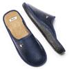 Pantofole da uomo con punta chiusa bata, blu, 871-9304 - 19