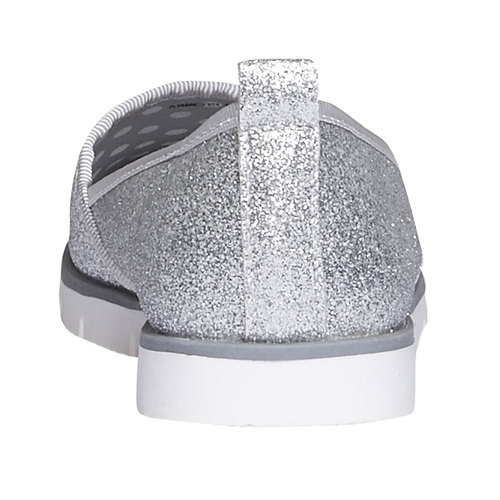 Slip-on da bambina con glitter mini-b, bianco, 329-1163 - 17