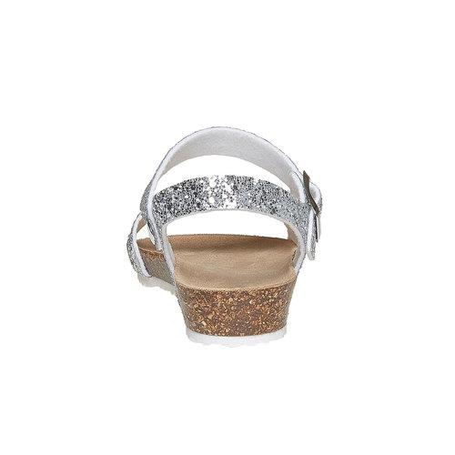 Sandali con glitter e suola di sughero mini-b, grigio, 369-2189 - 17