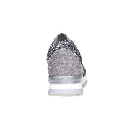 Sneakers da donna con glitter north-star, argento, 549-1262 - 17