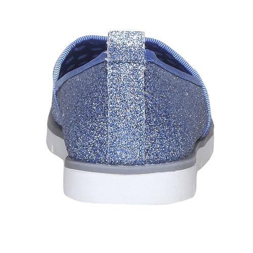 Slip-on da ragazza con glitter mini-b, viola, 329-9163 - 17