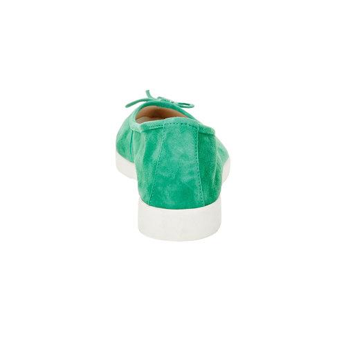 Ballerine da donna con suola appariscente bata, verde, 529-7494 - 17