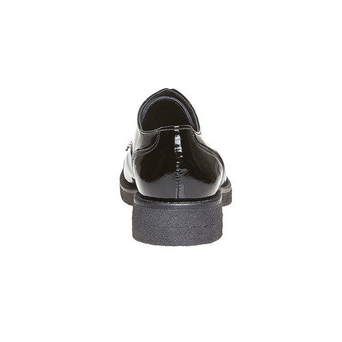 Scarpe basse da donna verniciate bata, nero, 521-6317 - 17