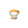 Sandali da ragazza con strass mini-b, giallo, 361-8175 - 17