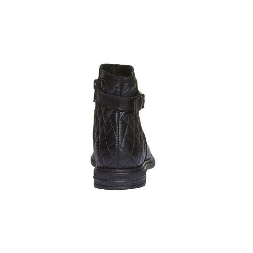 Stivaletti in pelle alla caviglia con cuciture mini-b, nero, 394-6233 - 17
