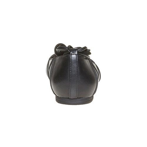 Ballerine da donna con lacci bata, nero, 521-6142 - 17