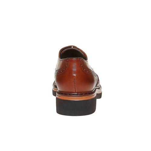 Scarpe basse da donna in pelle con suola ampia bata, marrone, 524-3356 - 17