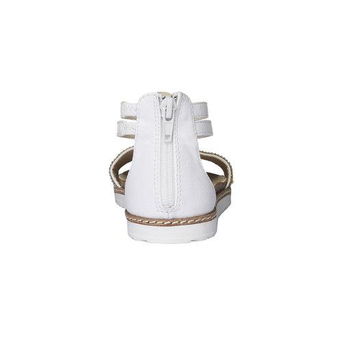 Sandali da bambina con cinturino alla caviglia mini-b, bianco, 361-1161 - 17