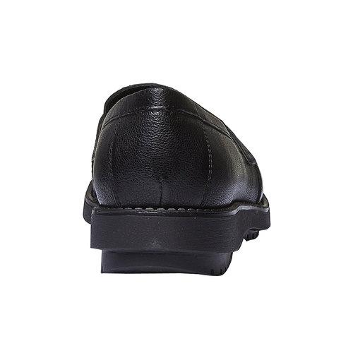Scarpe di pelle in stile Loafer flexible, nero, 514-6185 - 17