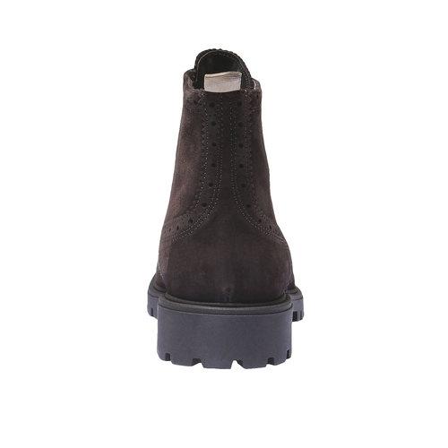 Scarpe in pelle alla caviglia con suola massiccia bata, marrone, 893-4289 - 17