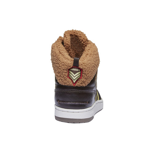 Sneakers alla caviglia con fodera calda adidas, marrone, 801-4100 - 17