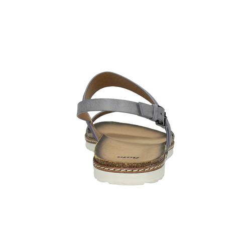 Sandali da donna bata, grigio, 561-2294 - 17