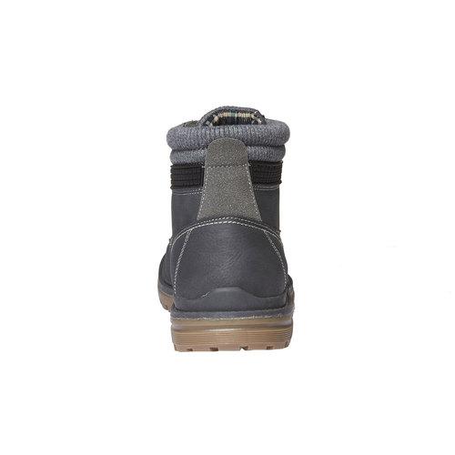 Scarpe alla caviglia con suola appariscente bata, grigio, 891-2438 - 17