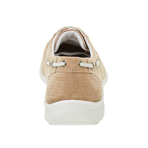 Scarpe basse informali di pelle bata-comfit, beige, 856-8177 - 17