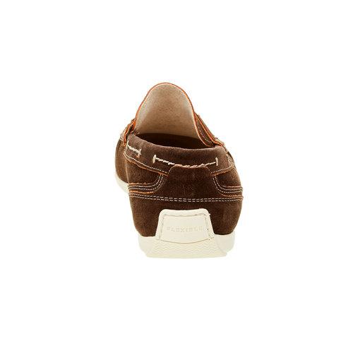 Mocassini da uomo in pelle flexible, marrone, 853-4190 - 17