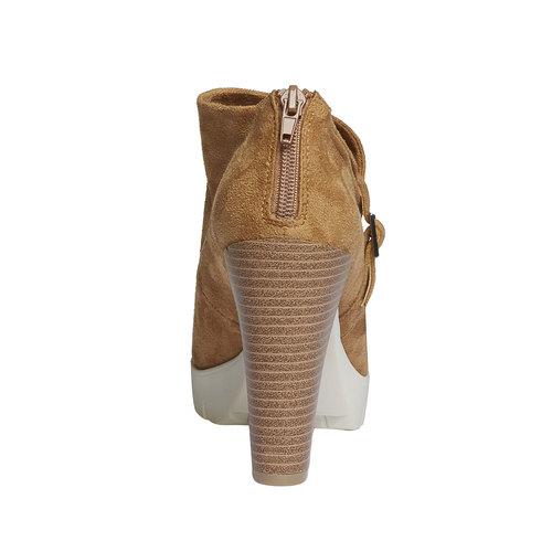 Stivaletti alla caviglia dalla suola appariscente bata, marrone, 799-3630 - 17