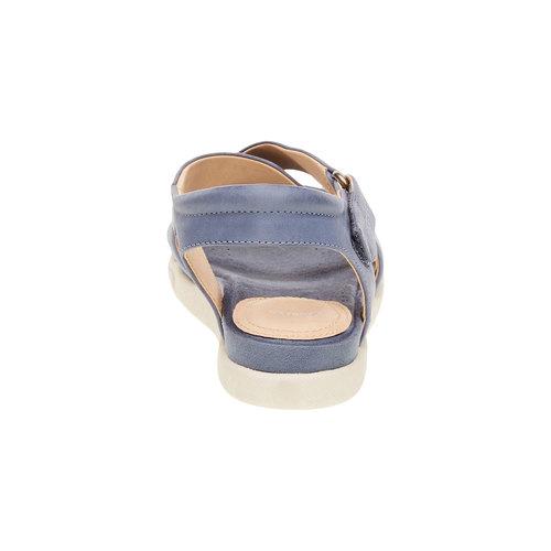 Sandali da donna in pelle bata, blu, 564-9351 - 17