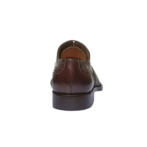 Oxford di pelle shoemaker, marrone, 824-4594 - 17