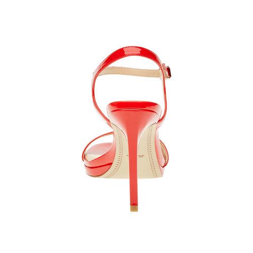 Sandali da donna con tacco a spillo bata, rosso, 761-5550 - 17