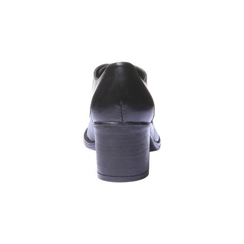 Scarpe basse da donna in pelle con tacco bata, nero, 724-6788 - 17