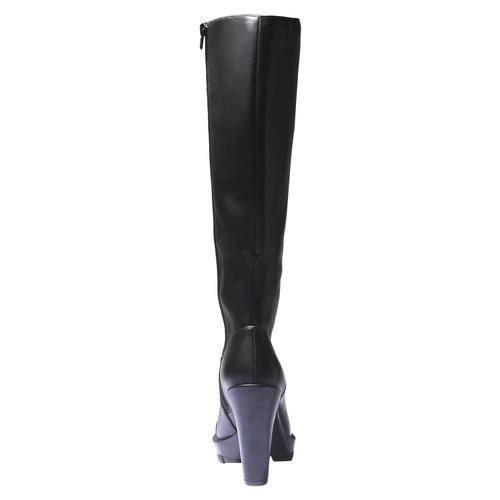 Stivali con suola originale bata, nero, 791-6574 - 17