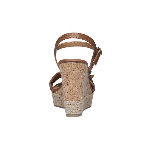 Sandali con suola a piattaforma con un piccolo fiore bata, marrone, 761-4529 - 17