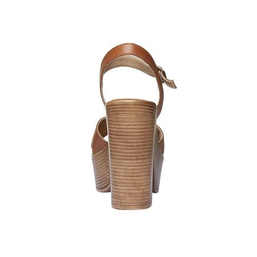 Sandali da donna con strisce di pelle bata, marrone, 764-4511 - 17