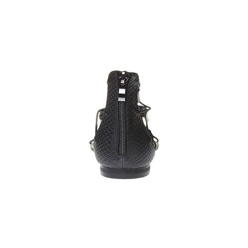 Sandali da donna con striscia sul collo del piede bata, nero, 561-6307 - 17