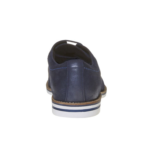 Scarpe basse informali di pelle bata, viola, 826-9642 - 17