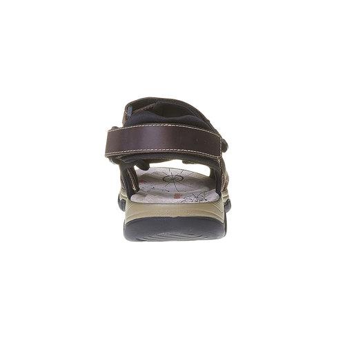 Sandali da uomo in pelle weinbrenner, marrone, 864-4218 - 17
