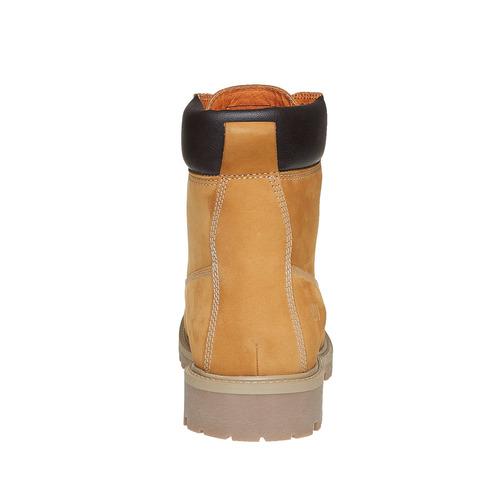Scarpe in pelle con suola a carro armato weinbrenner, marrone, 896-8820 - 17