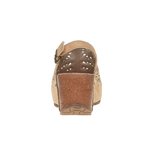 Sandali con tacco a zeppa bata, beige, 669-8200 - 17