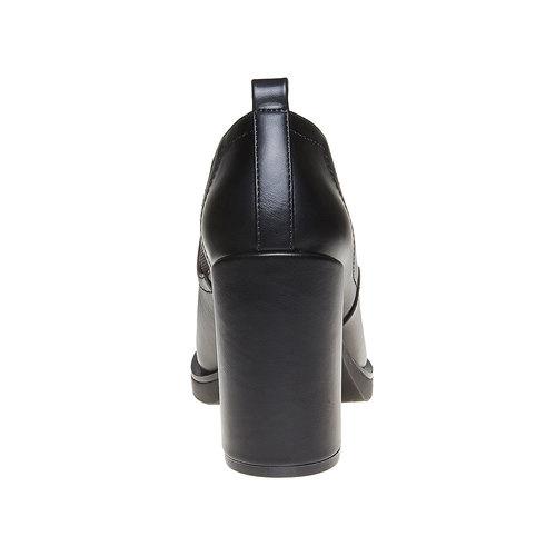 Stivaletti con tacco massiccio bata, nero, 721-6328 - 17