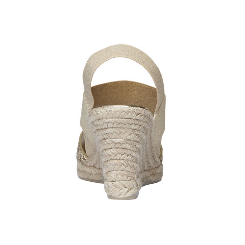Sandali da donna con plateau bata, beige, 769-8548 - 17