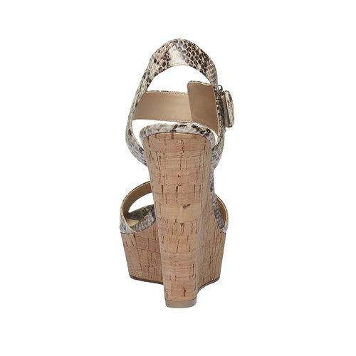 Sandali da donna con plateau bata, beige, 761-8533 - 17