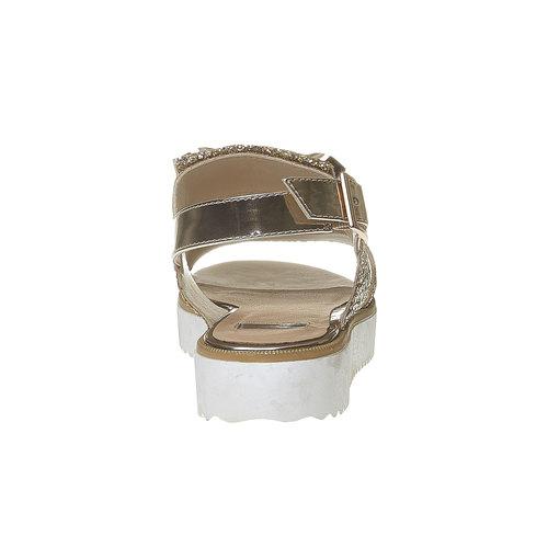 Sandali con glitter e flatform bata, oro, 569-8390 - 17