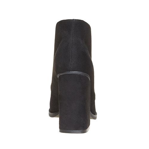 Scarpe basse da donna con tacco ampio bata, nero, 799-6430 - 17