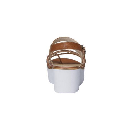 Sandali da donna con flatform bata, marrone, 661-3186 - 17