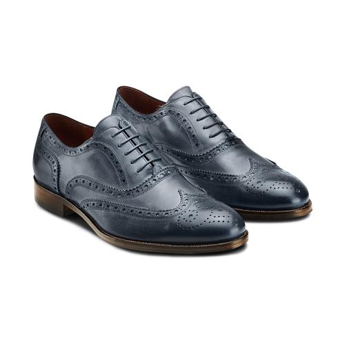 Oxford di pelle bata-the-shoemaker, blu, 824-9594 - 16