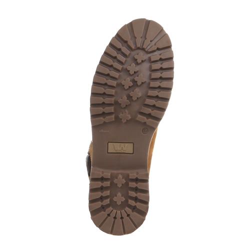 Scarpe in pelle con suola a carro armato weinbrenner, marrone, 896-8820 - 18