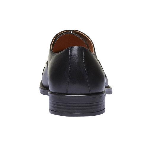 Scarpe basse di pelle con decorazioni Brogue bata, nero, 824-6803 - 17