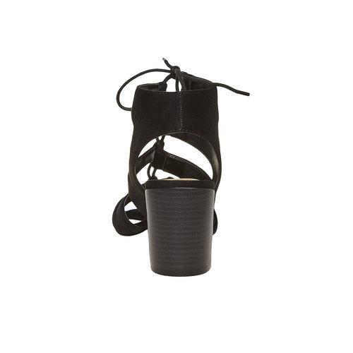 sandalo da donna con tacco bata, nero, 769-6536 - 17