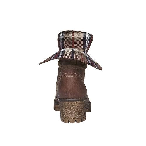 Scarpe in pelle con suola a carro armato e orlo originale weinbrenner, marrone, 694-4167 - 17